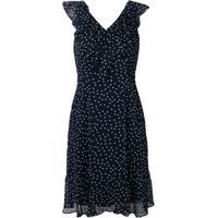 83183f145 Dkny Dotted V Neck Dress - Azul