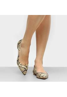 Sapatilha Couro Shoestock Cobra Feminino - Feminino