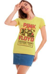 Camiseta Básica Joss Pink Floyd Amarelo