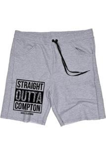 Bermuda Moletom Straight Outta Compton Masculina - Masculino