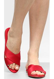 89b49bb6a Rasteira Cetim Publish feminina   Shoes4you