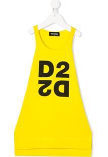 Dsquared2 Kids Vestido D2-Espelhado - Amarelo