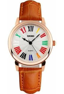 Relógio Skmei Analógico 1084 - Feminino-Laranja
