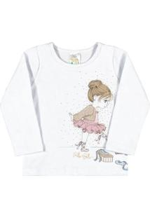 Blusa Bebê Menina Cotton - Feminino-Branco