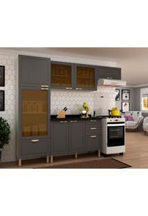 Cozinha Compacta Nevada Iii 7 Pt 4 Gv Grafite E Branca