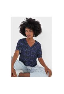 Camiseta My Favorite Thing(S) Estampada Preta/Azul-Marinho