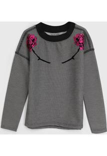 Blusa Ellus Kids Infantil Floral Cinza