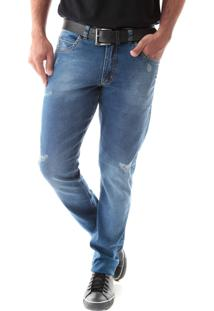 Calça 2250 Jeans Slim Traymon Azul
