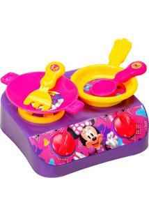 Jogo De Cozinha Minnie®- Rosa & Amarelo- 5Pçs- Eetilux