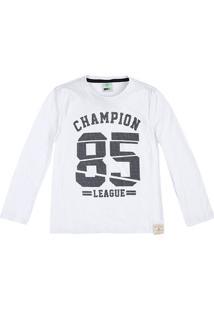 Camiseta Infantil Menino Flamê Com Mangas Longas Puc       2878ba47dce62