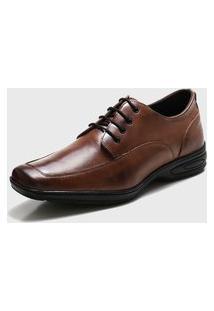 Sapato Social Ded Calçados Conforto Com Cadarço Marrom