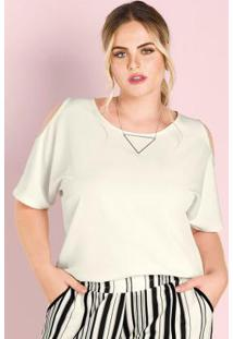 Blusa Secret Glam Bege
