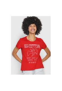 Camiseta Enfim Led Zeppelin Vermelha