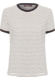 Camiseta Feminina Lines S - Bege