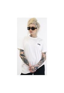 Camiseta Anjuss Feminina Over Strong Off-White