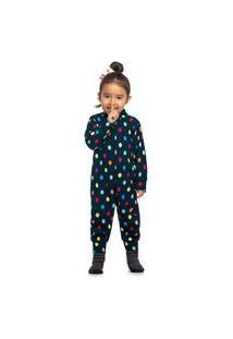 Pijama Macacão Infantil Bebê Estampa Sortida Elian