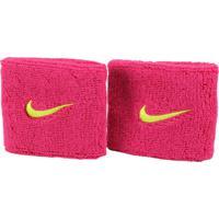 Munhequeira Pequena Nike Swoosh Wristband 2 Unidades Rosa Verde 370855a33ae1c