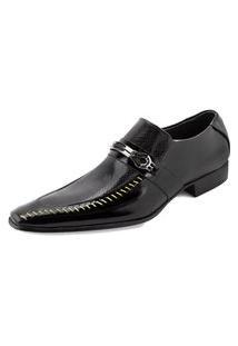 Sapato Confort Ettore, Parma - Couro Preto Verniz.