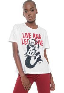 Camiseta Ellus 2Nd Floor Let Drive Branca