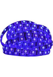 Fita Led Azul 120W 12V Ip65 5 Metros Com Silicone L E D
