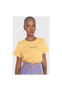 Camiseta Forum Lettering Amarela