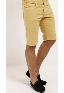 Bermuda Sarja Masculina Amarelo