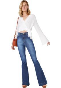 Calça Jeans Flare Cintura Alta Classic