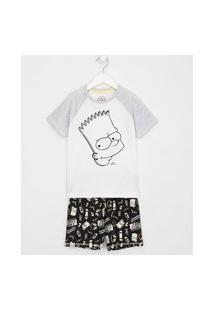 Pijama Infantil Curto Bart Simpson - Tam 5 A 14 Anos | Simpsons | Multicores | 5-6