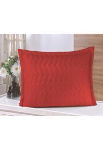 Porta Travesseiro Guga Tapetes Avulso Com Debrum Vermelho