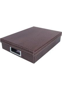 Caixa Organizadora P Dandy - Marrom - 7X25X34Cmboxmania