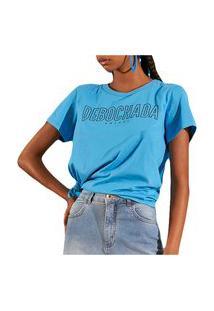 Camiseta Colcci Comfort Azul Feminino