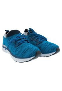 Tênis Cross Road Running Masculino Tecido Azul