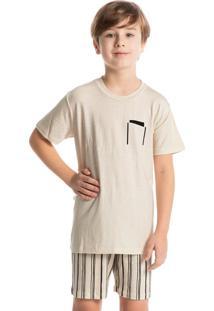 Pijama Infantil Masculino Curto Stripes