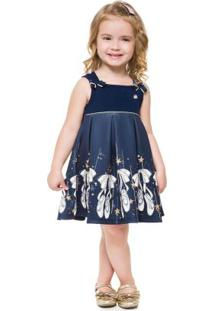 Vestido Infantil Marinho