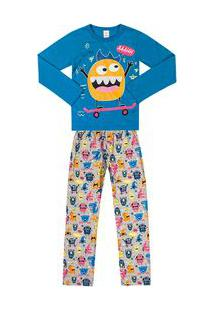 Pijama Marisol Azul Menino Pijama Marisol Azul Bebê Menino