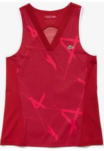 Camiseta Lacoste Sport Bordô