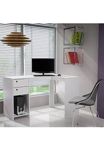 Mesa Para Computador Bc 40 2 Gavetas Branco - Brv