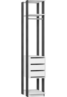 Estante Gaveteiro 410 Branco Tx/Expresso Be Mobiliário