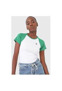 Camiseta Volcom Lived In Lounge Branca/Verde