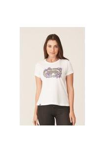 Camiseta Ecko Feminina Estampada Off White