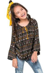 Blusa Infantil Marrom Nanai