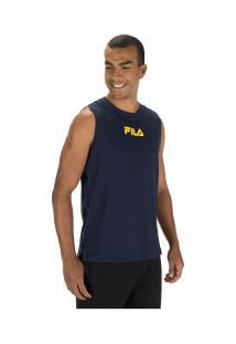 Camiseta Regata Fila Summer Back - Masculina - Azul Escuro
