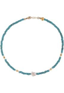 Nialaya Jewelry Short Seedbead Necklace - Azul