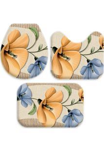 Jogo Tapetes Love Decor Para Banheiro Beautiful Flowers Multicolorido Único