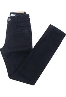 Calça Alfa Sarja Infantil - Masculino-Preto