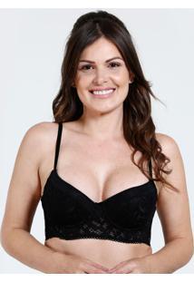f81548f235b682 Sutiã Feminino Top Corpete Renda Marisa