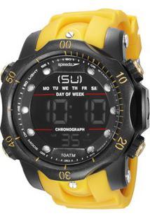 Relógio Digital De Borracha 11005G0Evnp6- Amarelo & Pretspeedo