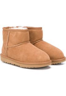 Ugg Kids Ankle Boot Classic Ii - Marrom