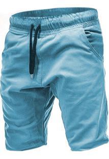 Bermuda Masculina Com Cordão - Azul Claro M