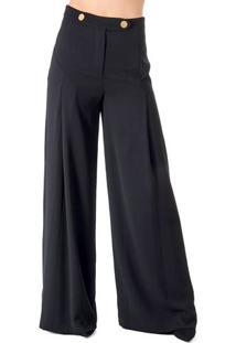 Calça Pantalona Com Prega Alphorria